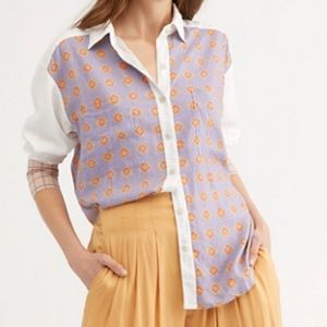 NWT Free People Moroccan Midnight Buttondown Shirt